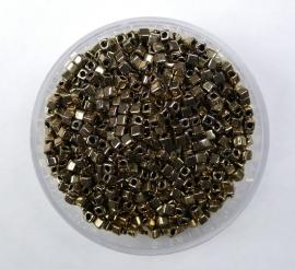 Miyuki Cubes, 1,8x1,8 mm, Metallic Dark Bronze, kleurnummer 457