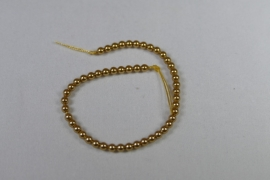 Parels, 3 mm, Swarovski, Bright Gold