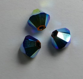 5 mm Jet AB2x	 Swarovski Element Bicones