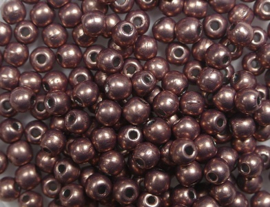 Round Beads , 3 mm, Czech Glass, Colortrends Saturated Metallic Autumn Maple