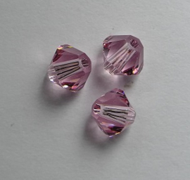 5 mm Light Rose Swarovski Element Bicones