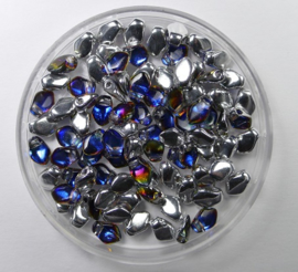 Gekko beads, 3x5 mm, Crystal Volcano