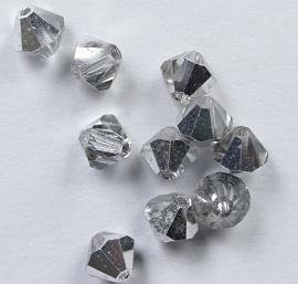 Bicones, 6 mm, Preciosa, Crystal Labrador