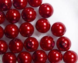 Parels, 6 mm, Preciosa, Red
