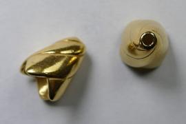 Eindkapjes, kegelvorm spiraal, 13 mm, Gold Plated