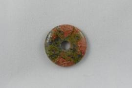 Donut 30 mm Unakite