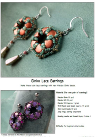 Gratis patroon: Ginko Lace Earrings