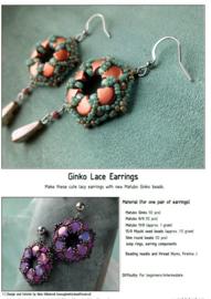Gratis patroon: Ginko Lace Earrings