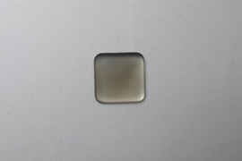Lunasoft Cabochon Vierkant 17 mm, Grey