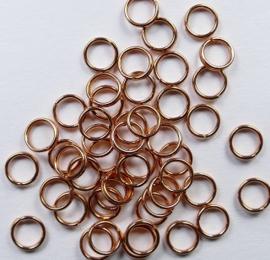 Splitringetjes, koperkleur 5 mm