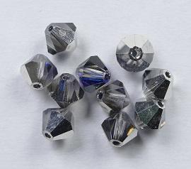 Bicones, 6 mm, Preciosa, Crystal Helio