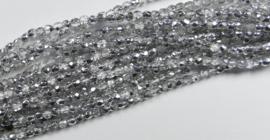 Streng van ongeveer 150 stuks Czech Glass True 2 mm Firepolish, Crystal Labrador