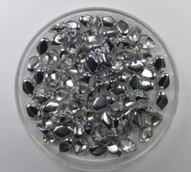 Gekko beads, 3x5 mm, Crystal Labrador