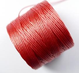 S-Lon TEX 210 Superlon Bead Cord, Chinese Coral