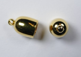 Bullet End Cap, 5 mm, Gold Plated
