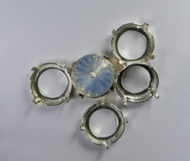 Setting voor rivoli, 12 mm, zilverkleur