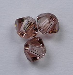 3 mm Blush Rose Swarovski Element Bicones