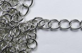 Schakelketting, 7 mm, zilverkleur