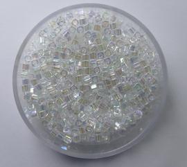 Miyuki Cubes, 1,8x1,8 mm, Crystal AB, kleurnummer 250