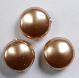 Coin parels, 12 mm, Swarovski, Rose Gold