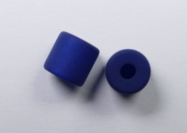 8 mm Polaris cilinder kraal, nachtblauw