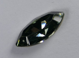 Navette 4228, 15x7 mm, Swarovski, Black Diamond