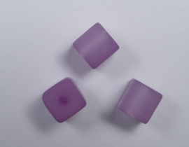 8 mm Polaris kubus kraal, zacht lila