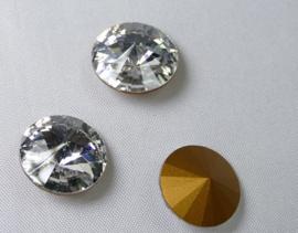 Rivoli, 14 mm, Preciosa, Crystal