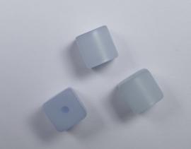 8 mm Polaris kubus kraal, zacht blauw