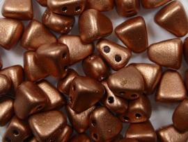 Nib-Bit, 6x5 mm, Matubo, Matte Metallic  Copper