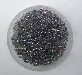 Miyuki Berry Bead, Transparant Gray Rainbow Luster, kleurnummer  2440