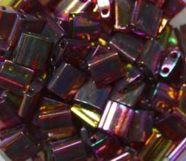 Miyuki Tila Beads, 5x5 mm , Rose Gold Luster, kleurnummer 301