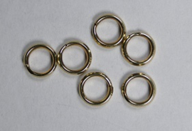 Splitring, Gold Filled 5 mm, 2 stuks