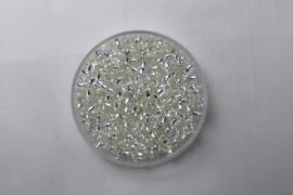 Miyuki Rocailles, 8/0 , Silver Lined Crystal, kleurnummer 1