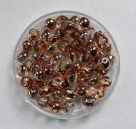RounDuo Beads, 5 mm, Crystal Capri Gold