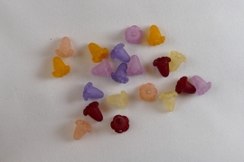 Lucite bloemetjes, 10 stuks