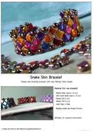 Gratis patroon: Ginko Snake Skin Bracelet