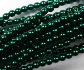 Czech glasparels, 3 mm, Deep Emerald