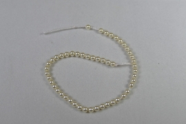 Parels, 3 mm, Swarovski, Cream