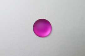 Lunasoft Cabochon Rond 18 mm, Raspberry