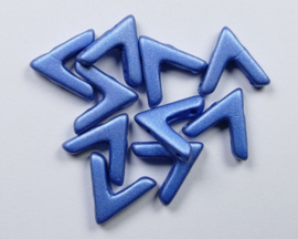 AVA beads, 4x10 mm, Alabaster Metallic Matte Blue