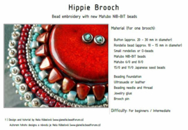 Gratis patroon_ Hippie Brooch