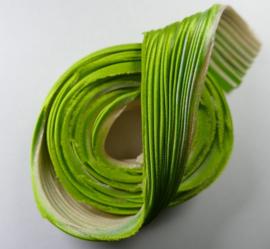 Shibori zijde per 1/4 yard:  Écru Spring Green