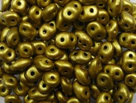 Superduo's, 2,5x5 mm, Matubo, Matte Metallic Aztec Gold