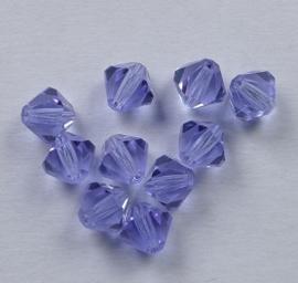 Bicones, 6 mm, Preciosa, Alexandrite op=op