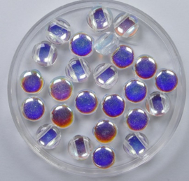 DiscDuo Bead, 6x4mm, Crystal AB