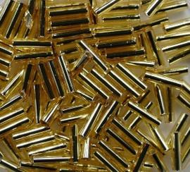 Miyuki Bugles, 6mm, Silverlined Gold, kleurnummer 3