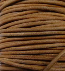 Indiaas leer, rond, 2 mm, 50 cm, Natural