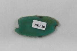 Agaatschijf, 58x29 mm, groen