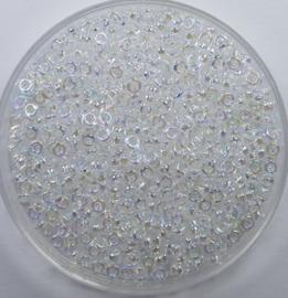 Miyuki Spacer beads, 2,2x1 mm, Crystal AB, kleurnummer 250